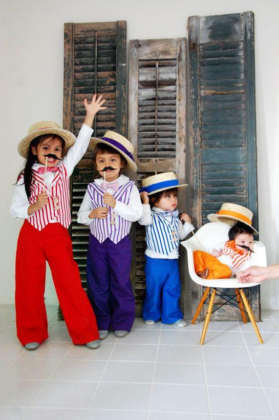 Barbershop quartet costume