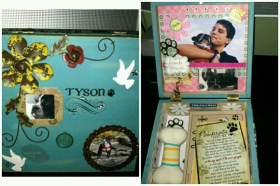 My latest creation for my best friend...memory box