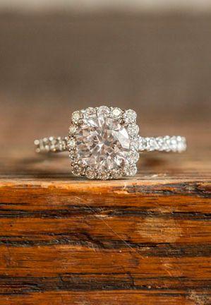Pretty engagement ring.