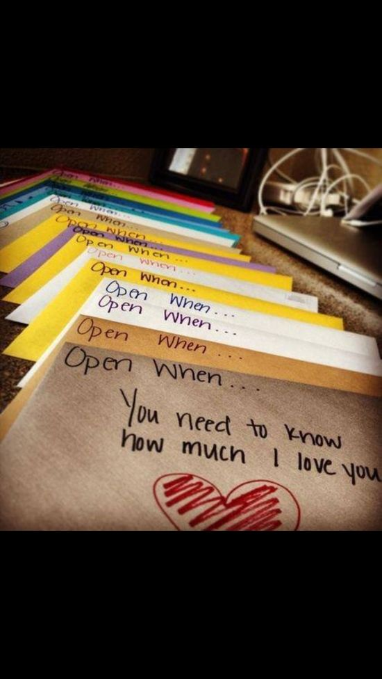 Lovely letter idea for your boyfriend or write them before college give to friends