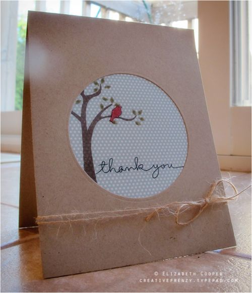 Handmade Card: Thank You