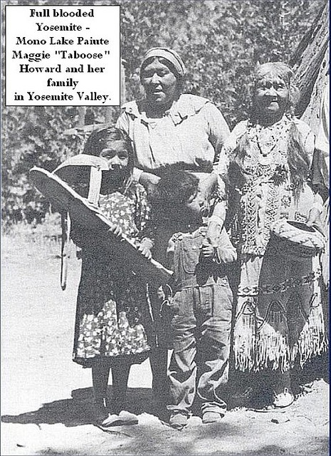Yosemite Native Americans - Maggie Taboose Howard and family in Yosemite by Yosemite Native American, via Flickr