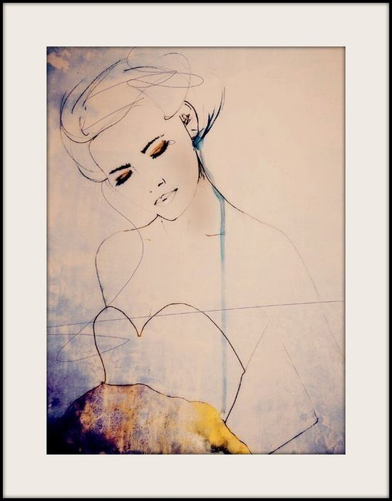 Abstractions Aside  Fashion Illustration Art Print by LeighViner, $28.00