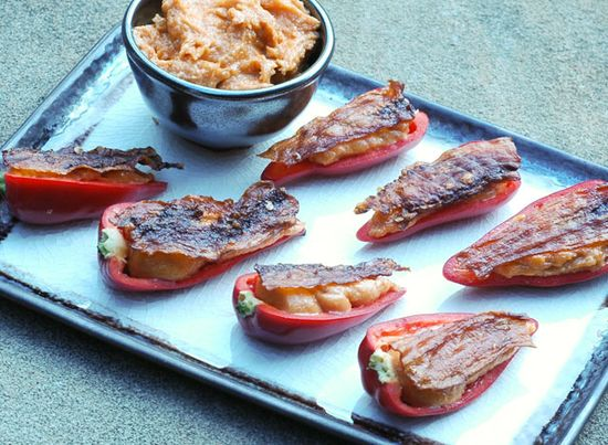Raw eggplant bacon