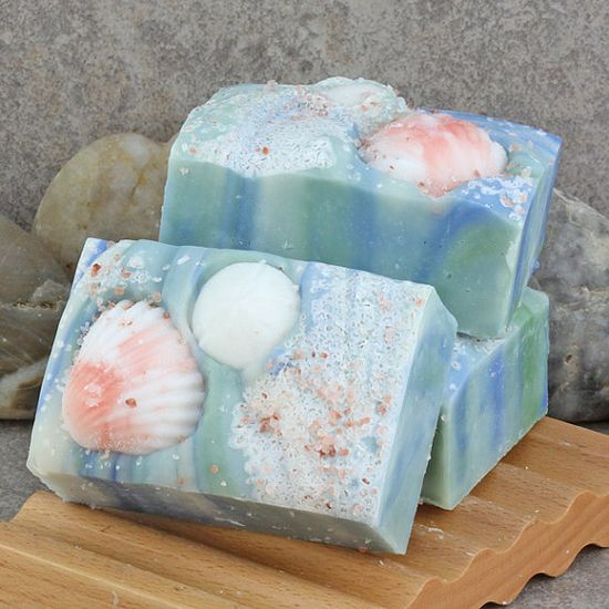 Ocean Beach Handcrafted Cold Process Soap Bar by AlaiynaBSoaps, $6.50