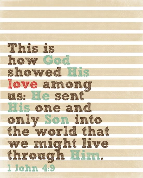 I John 4:9 printable