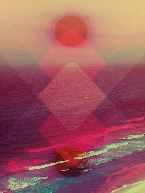 #graphic #design #triangle #pink