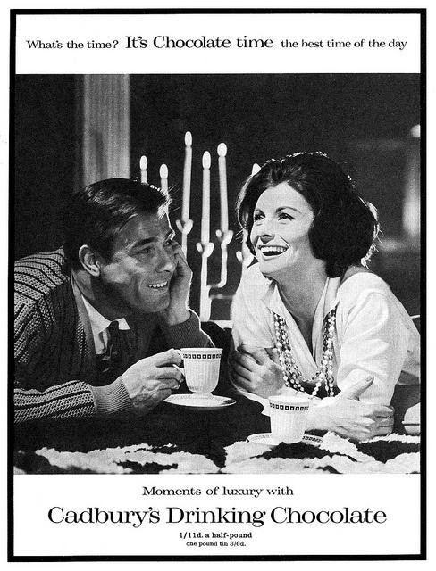 Cadbury's Drinking Chocolate advertisement, 1959. #vintage #1950s #food #ads