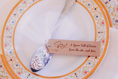 Ornate vintage inspired wedding reception dishware