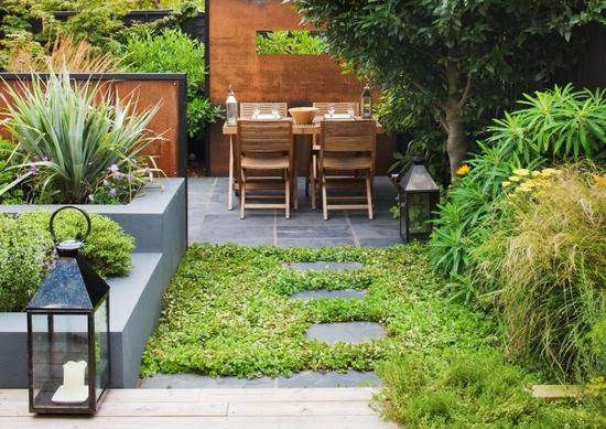 modern garden design  Photo by Clive Nichols