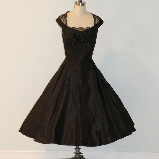 Vintage 50s cocktail dress - beautiful