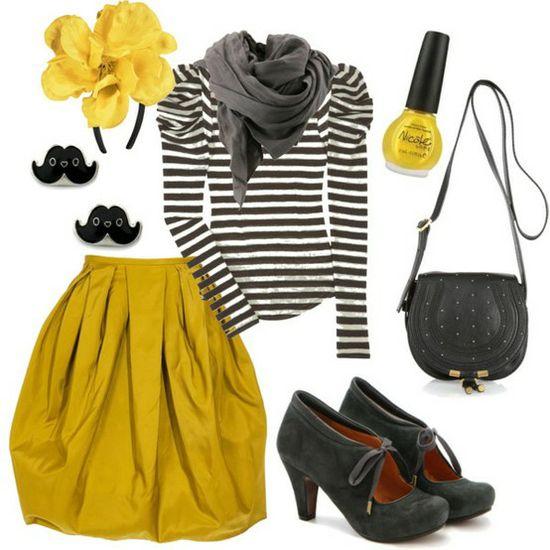 black & yellow & stripes