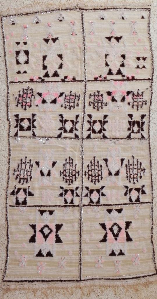 Moroccan Wedding Blanket Rug 3#1  10 x 5