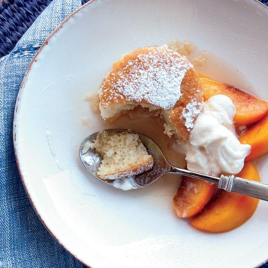 Peach Shortcake with Vanilla Whipped Cream // More Fruit Desserts: www.foodandwine.c... #foodandwine