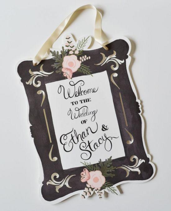 custom welcome wedding signs