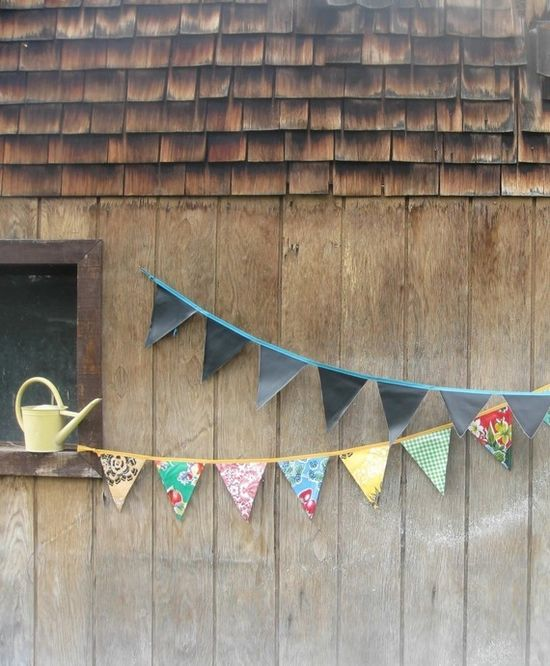 Chalk Cloth Oilcloth Pennant Party Banners
