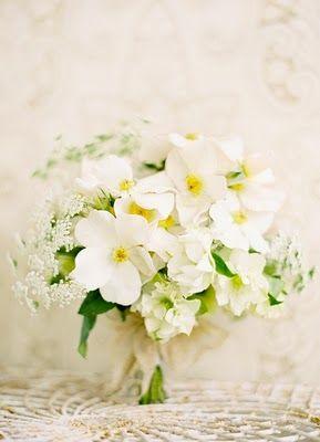 Crisp spring wedding bouquet: #wedding #bouquet #white: www.josevillablog... www.flowerwilddes...