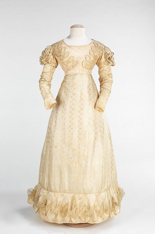 Wedding dress Date: 1824 Culture: American Medium: silk