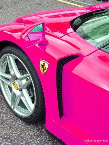 Ferrari Pink ? Girly Cars for Female Drivers! Love Pink Cars ? It's the dream car for every girl ALL THINGS PINK!