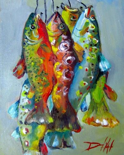A Rainbow Catch, painting by artist Delilah Smith