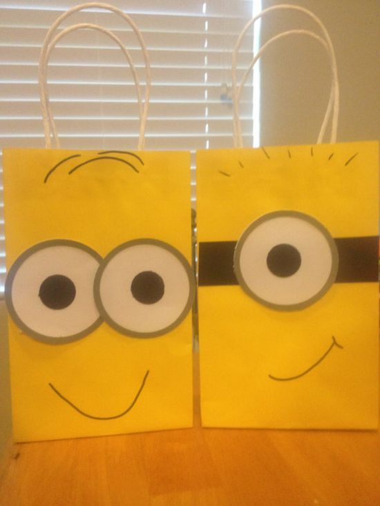 Despicable Me Minion Favor Bags by TBcraft06 on Etsy, $12.00