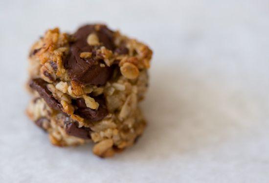 Vegan Banana-Coconut-Chocolate Cookies.