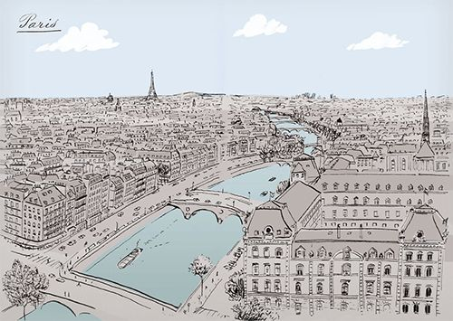Scenes from Paris Sketchbook, a new book by fashion illustrator Jason Brooks