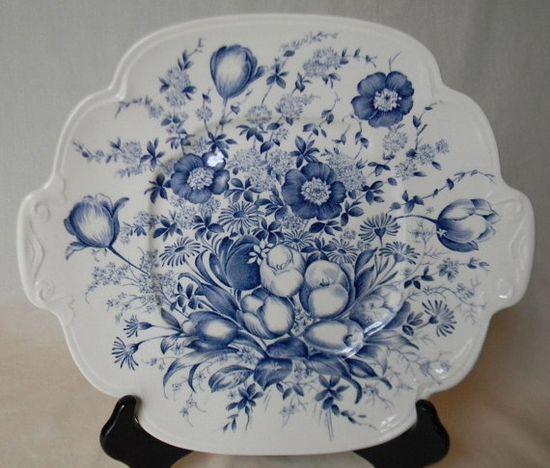 Vintage+English+Blue+Transferware+Platter++by+EnglishTransferware,+$49.99