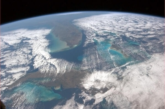 """""""Cuba, the Bahamas, Florida, the Universe.""""  Chris Hadfield from the International Space Station."""