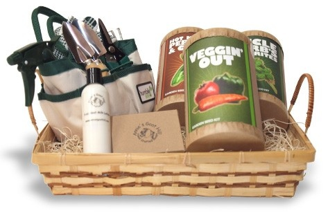 Garden gift basket