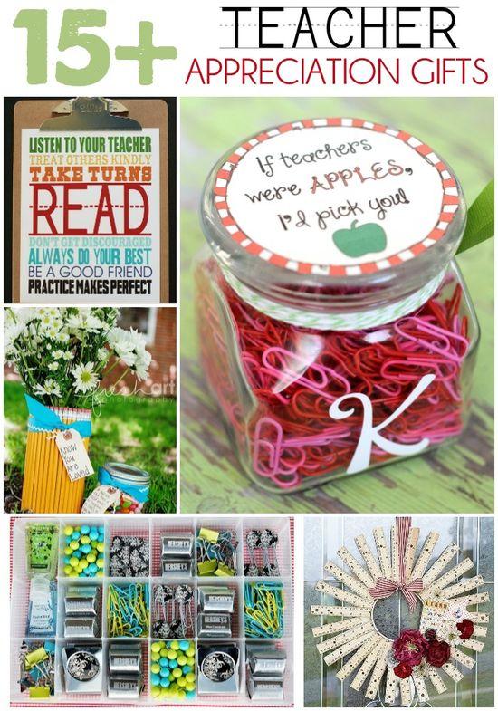 15+ Teacher Appreciation Gift Ideas on { lilluna.com } #teacher