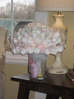 Diaper rose bouquet, instead of diaper cake