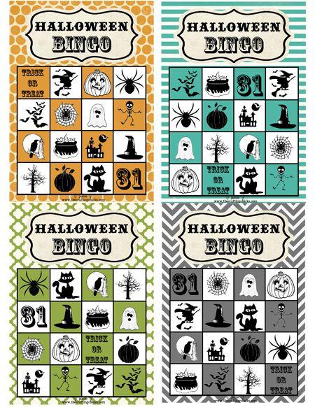 Free Printable: Halloween Bingo Cards #halloween