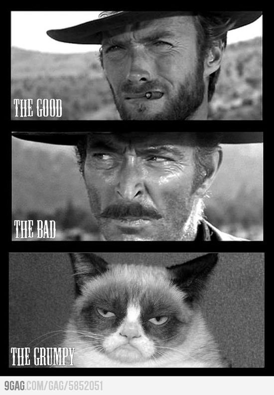 The Good, the Bad and the Grumpy