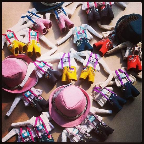 Sorting out Lederhosen., beautiful creations by MforMonkey