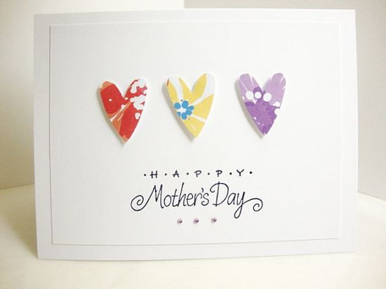 a cute and colorful card for Mom