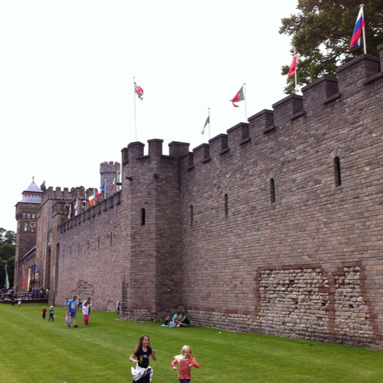 Cardiff castle . Wales