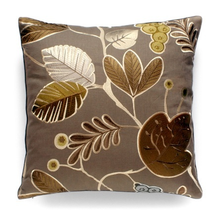 Hollywood Luxe Bronze Silk Leaf Pillow More Luxury Hollywood Interior Design Inspirations To Pin, Share & Inspire @ InStyle-Decor.com Beverly Hills (Use Our Red Pinterest Speed   Pin Button Top Of Each Page Happy Pinning)