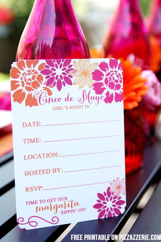 Free Printable Cinco de Mayo Party Invitation