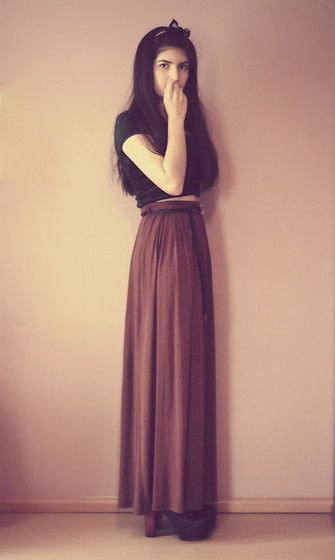 Love the long skirt look!!