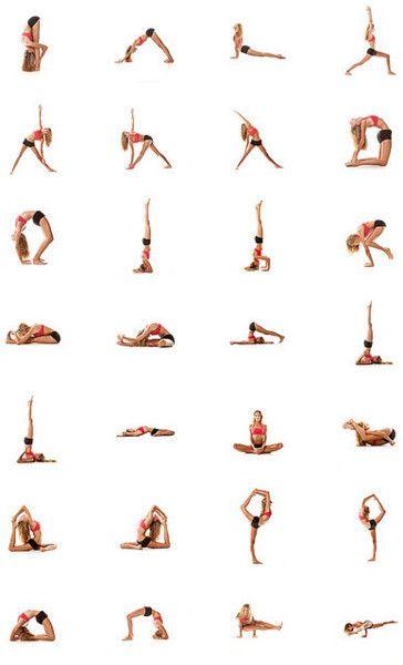 Yoga: Do each for a minute (or 20 deep breaths).