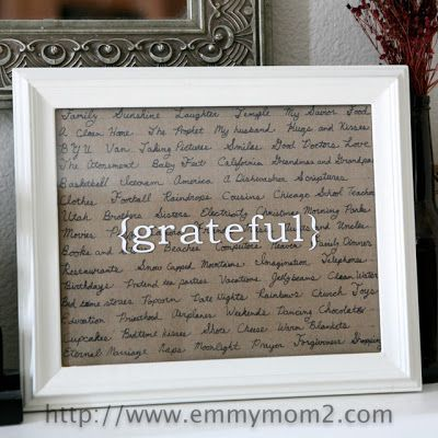 Make this by writing what I or my family is grateful for this Thanksgiving.  It would be really beautiful.