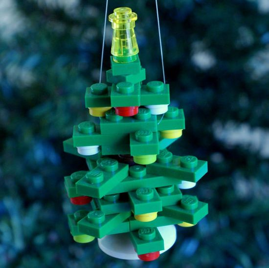 LEGO Mini 3D Tree Christmas Ornament by ornaments4charity on Etsy, $16.00