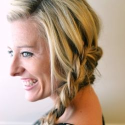 A beautiful braid tutorial with video that will show you how to wrap two braids around your whole head.