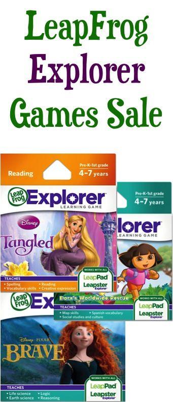 LeapFrog Explorer Games Sale: $9.99! {Tangled, Dora, Brave}