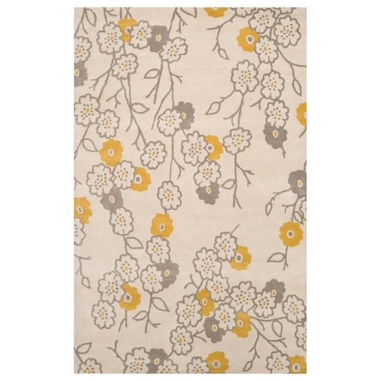 yellow and gray rug