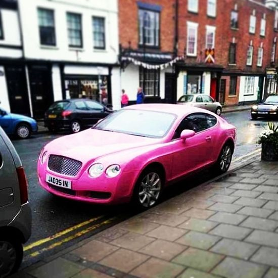 One for the ladies, Bentley Continental GT Pink!