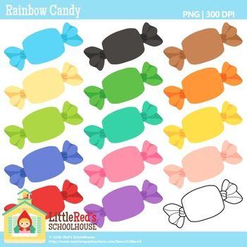 Clip Art - Rainbow Candy clipart $