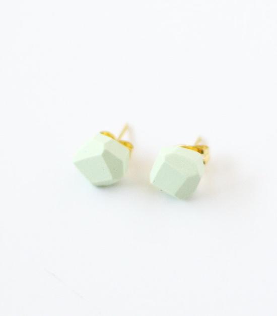 mint geo earrings by AMM Jewelry