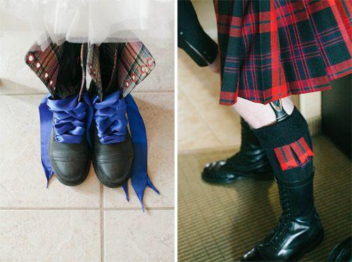Lauren & Jordan's Highland gothic seaside wedding
